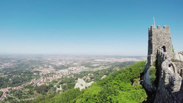 Viewpoint from the Castle of the Moors (Castelo dos Mouros) overlooking Sintra