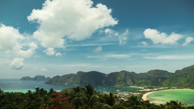 皮皮皮皮島的甲島南部,泰國安達曼海的觀點。 - 披披群島 個影片檔及 b 捲影像
