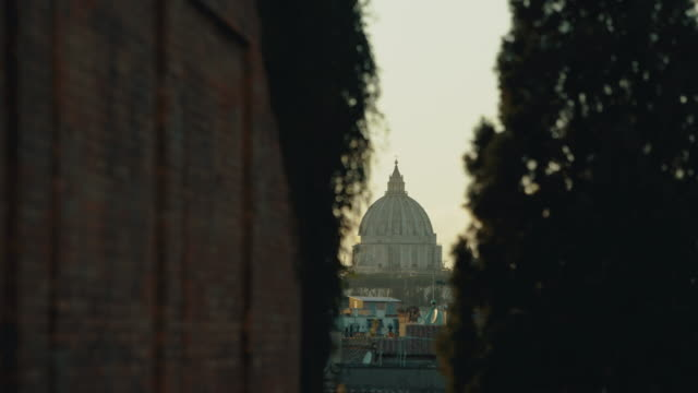 views and sightseeings of the great beauty of rome: church domes and skyline - rome italy stock videos & royalty-free footage