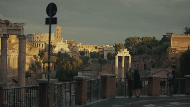 ローマの美しい景色と観光:ローマのフォーラム - ラツィオ州点の映像素材/bロール