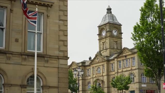 views around batley - clock tower stock videos & royalty-free footage