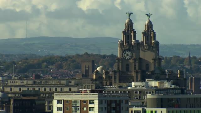 views around liverpool - tilt down stock videos & royalty-free footage