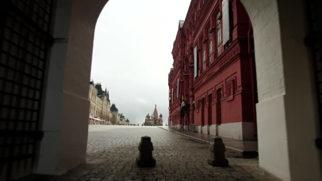 views around moscow during the coronavirus lockdown - inquadratura fissa video stock e b–roll