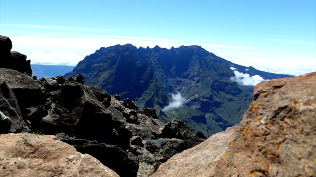 views from grand benare - reunion island - réunion french overseas territory stock videos & royalty-free footage