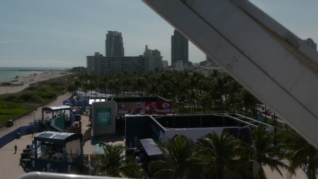 atmosphere views from the ferris wheel at the fox sports compound at lummus park on january 29 2020 in miami beach florida - super bowl stock videos & royalty-free footage