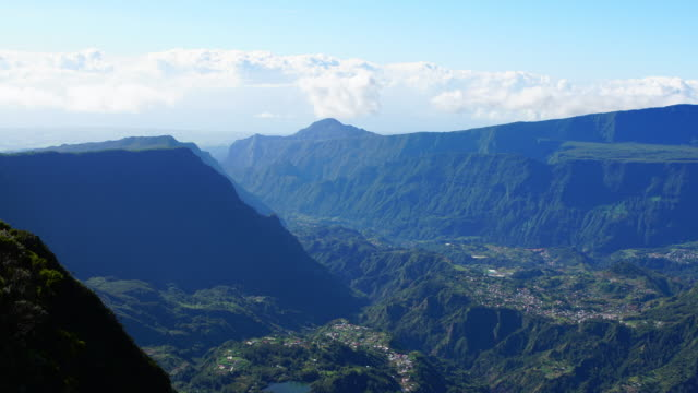 views from la roche écrite - reunion isladn - réunion french overseas territory stock videos & royalty-free footage
