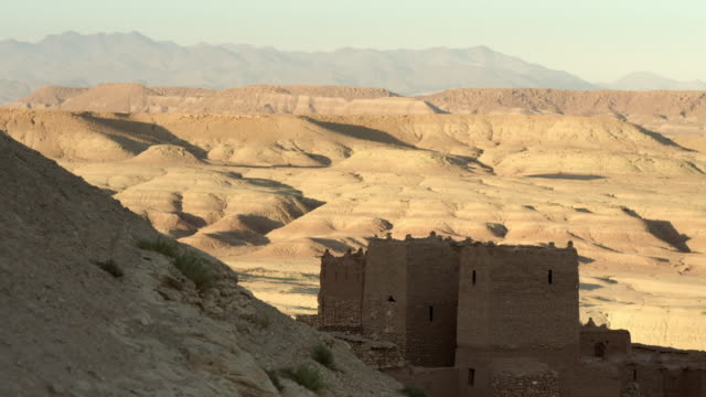 views in and around aït benhaddou, morocco - lehm mineral stock-videos und b-roll-filmmaterial