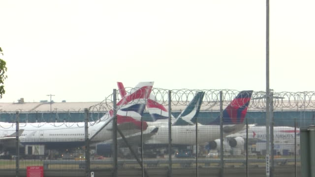 views in and around heathrow airport - commercial aircraft stock videos & royalty-free footage