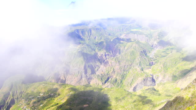 views in maïdo mountain - reunion island - mafate cirque stock videos & royalty-free footage