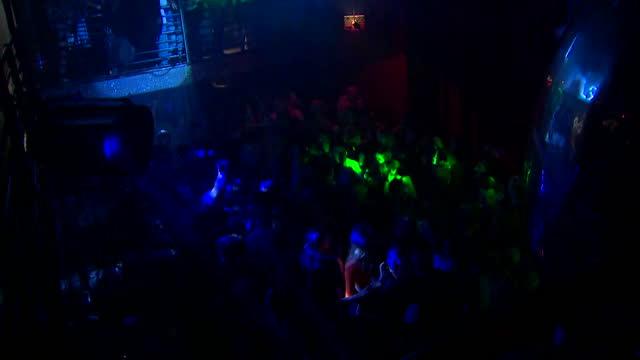 "views inside a nightclub - ""bbc news"" stock videos & royalty-free footage"
