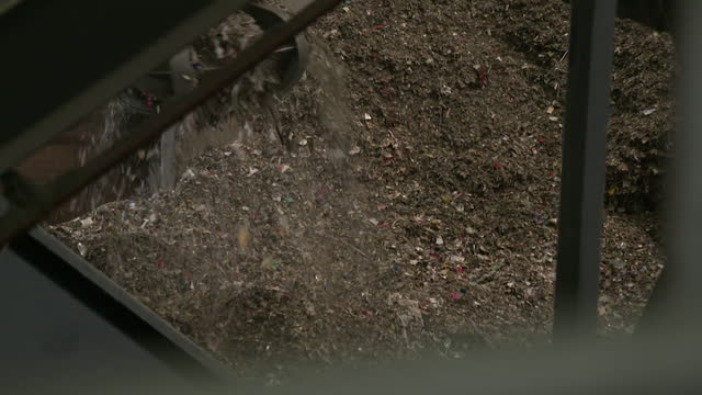 views inside a plastic recycling plant - construction vehicle stock videos & royalty-free footage