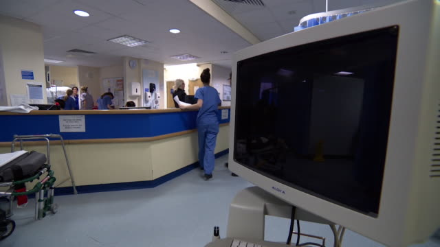 views inside an nhs hospital - nhs stock videos & royalty-free footage