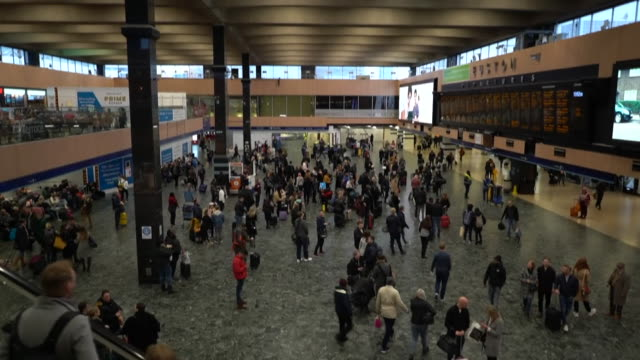 views inside euston station - lobby stock videos & royalty-free footage