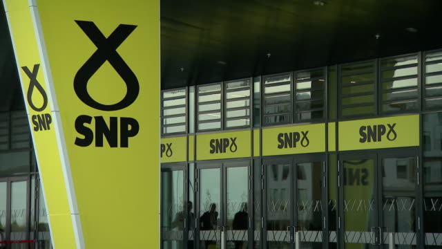 views inside the snp party conference in aberdeen - magazine stock videos & royalty-free footage