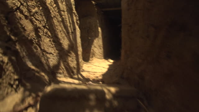 views inside trenches used by iraqi shia militiamen in the war against islamic state insurgents - shi'ite islam stock videos & royalty-free footage