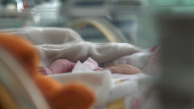 Views of a baby in a hospital ward