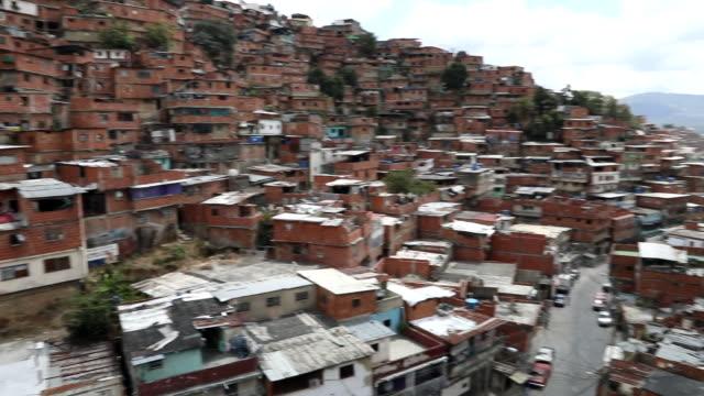 views of a barrio in caracas, venezuela - caracas stock videos & royalty-free footage