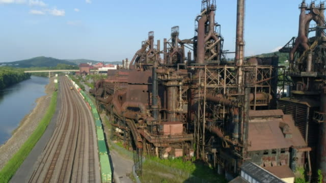 views of a blast furnace - pipeline stock videos & royalty-free footage