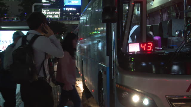 Views of a bus station in Seoul South Korea at a time of growing political tension in the region NNBZ112R ABSA627D