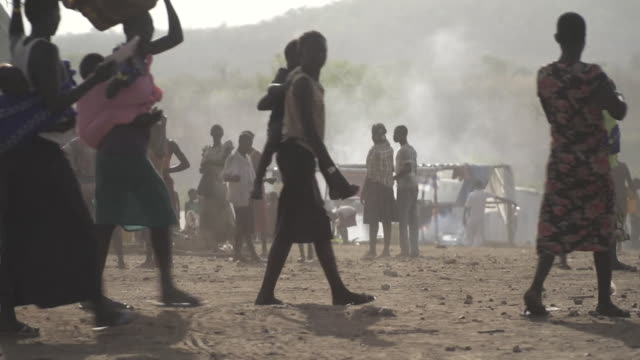 Views of a camp for South Sudanese refugees in Uganda