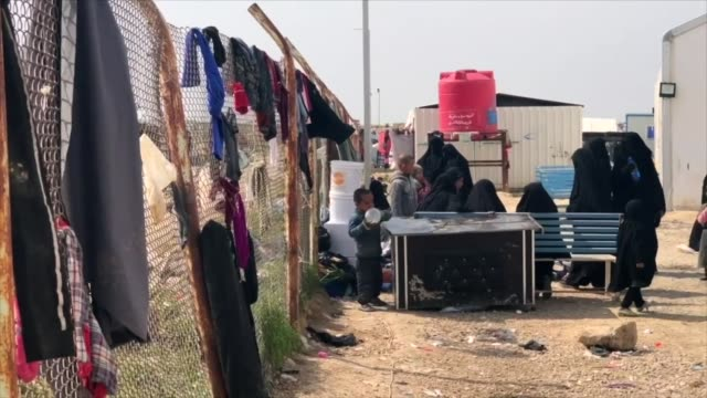 Views of a camp in northern Syria for the families of captured Islamic State fighters