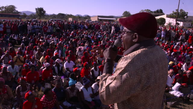 Views of a campaign rally by the Movement for Democratic Change the main opposition party in Zimbabwe