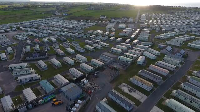 views of a caravan site in northern ireland - land vehicle stock videos & royalty-free footage