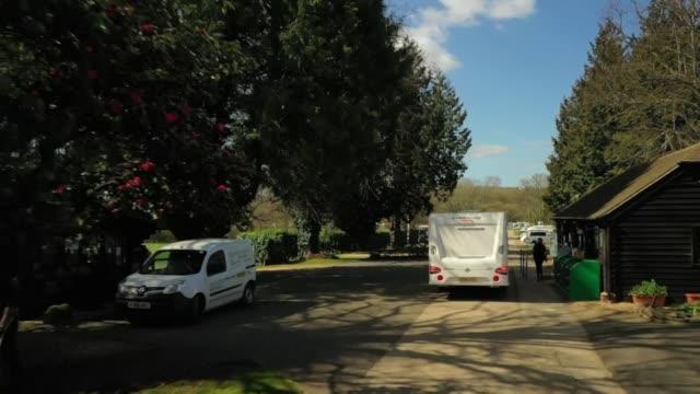 views of a caravan site - vacations stock videos & royalty-free footage