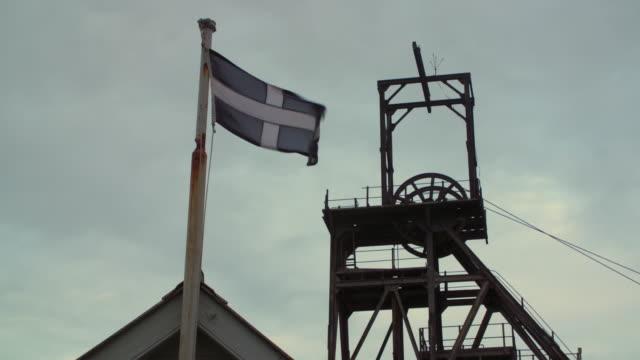 views of a cornish tin mine, uk - tin mine stock videos & royalty-free footage