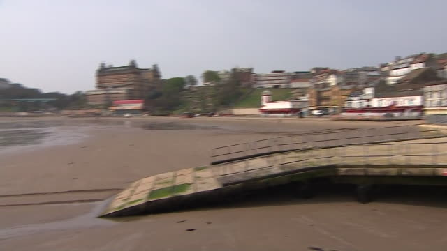 views of a deserted scarborough beach during the coronavirus lockdown - travel destinations stock videos & royalty-free footage