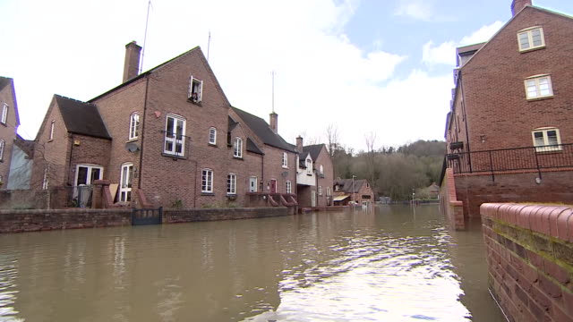 views of a flooded street in shropshire - deep stock videos & royalty-free footage