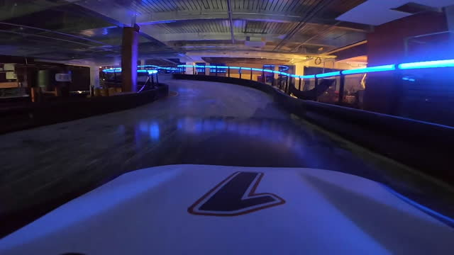 views of a go-kart driving through a shopping centre - car point of view stock videos & royalty-free footage