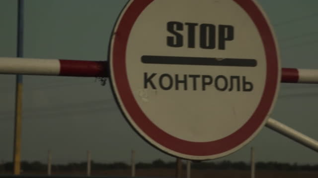 views of a guard at the ukraine-crimea border - security stock videos & royalty-free footage