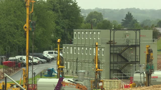 views of a hs2 development site in the chilterns - passenger train stock videos & royalty-free footage