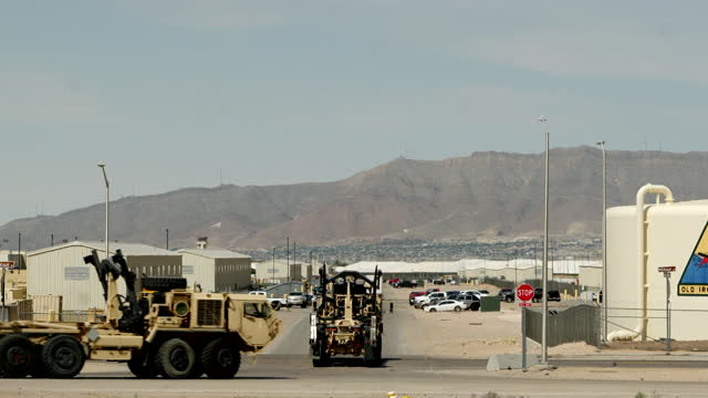 views of a large migrant detention facility at fort bliss, texas - gulf coast states stock videos & royalty-free footage