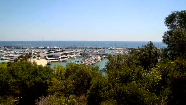 Views of a marina from the Castelldefels road