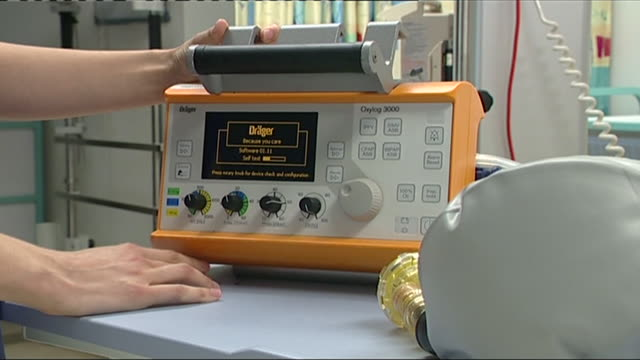 views of a medical ventilator - respiratory machine stock videos & royalty-free footage
