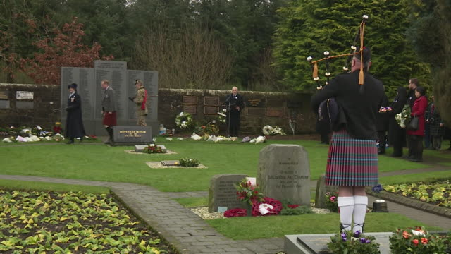 Views of a memorial service to mark 30 years since the Lockerbie bombing