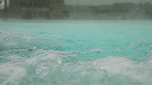 Views of a modern thermal pool in Bath, England