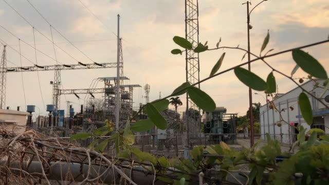 views of a neglected power grid in puerto la cruz venezuela - maduro stock videos & royalty-free footage
