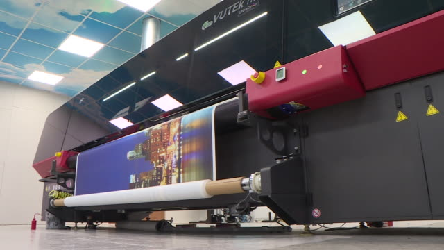 views of a printing machine - west midlands stock videos & royalty-free footage