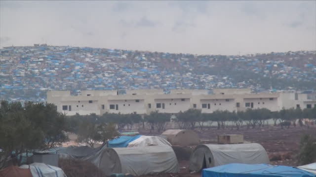 Views of a refugee camp for Aleppo evacuees in rebelheld Idlib