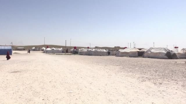 Views of a refugee camp in Syria