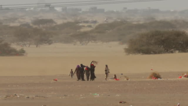 views of a refugee camp in yemen - yemen stock videos and b-roll footage