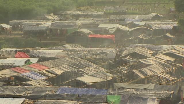 Views of a Rohingya refugee camp in Teknaf Bangladesh
