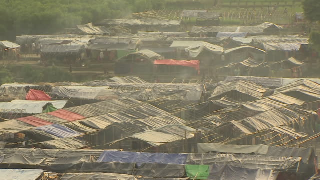 views of a rohingya refugee camp in teknaf, bangladesh - rohingya culture stock videos & royalty-free footage