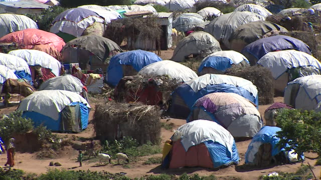 views of a somali refugee camp in ethiopia - war and conflict stock videos & royalty-free footage