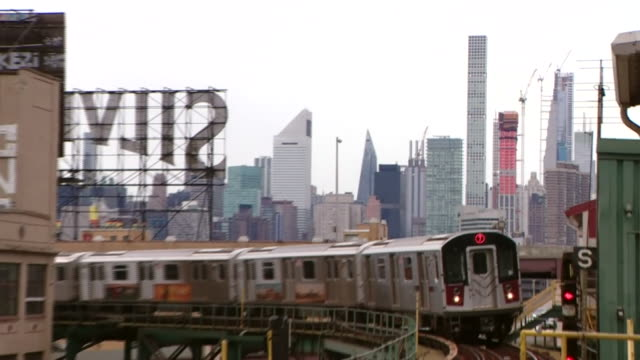views of a subway station in queens - backgrounds stock videos & royalty-free footage