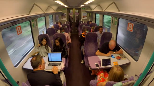 views of a train carriage travelling through the north of england amid discussions about rail infrastructure and expansion in the north, uk. - using computer stock videos & royalty-free footage