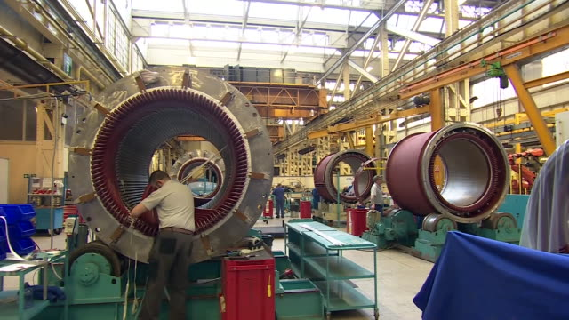 views of a turbine factory in wales - production line worker stock videos & royalty-free footage